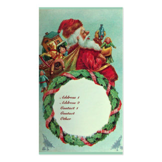 FUNNY AND HUMOROUS SANTA CLAUS VINTAGE CROWN BUSINESS CARD