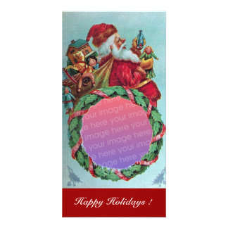 FUNNY AND HUMOROUS SANTA CLAUS VINTAGE CROWN CARD