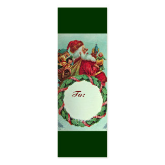 FUNNY AND HUMOROUS SANTA CLAUS VINTAGE CROWN MINI BUSINESS CARD