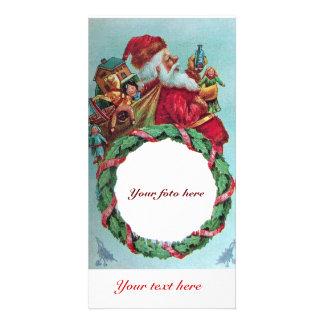 FUNNY AND HUMOROUS SANTA CLAUS VINTAGE CROWN PHOTO CARD