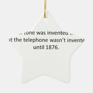 Funny and not true at all! ceramic ornament