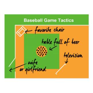 Funny and original baseball game tactics, postcard