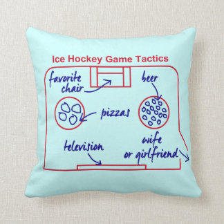 Funny and original ice hockey game tactics, throw pillow