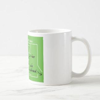 Funny and original soccer game tactics, coffee mug