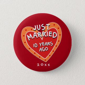 Funny and Romantic 10th Anniversary Button