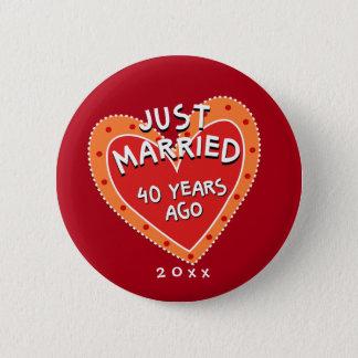 Funny and Romantic 40th Anniversary Button