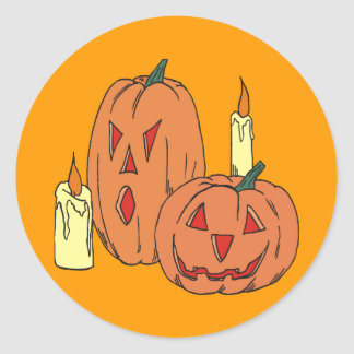 Funny and Scary Pumpkins Stickers