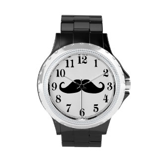 funny and trendy moustache,funny mens watch