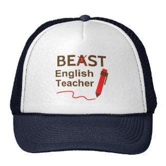 Funny and Wacky, Beast or Best English Teacher Trucker Hat