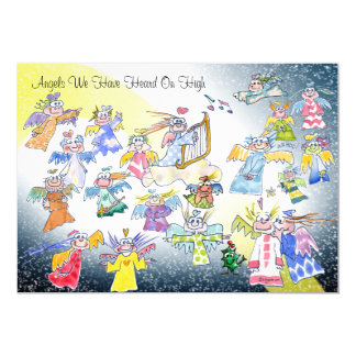 Funny Angels We Have Heard On High Holiday Card