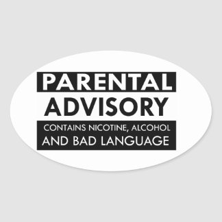 Funny anger designs oval sticker