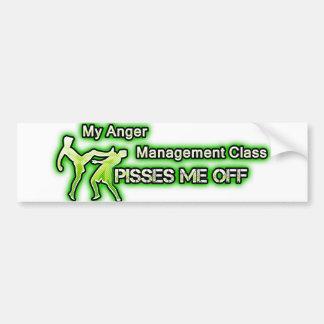 Funny Anger Management Bumper Sticker