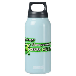 Funny Anger Management Insulated Water Bottle