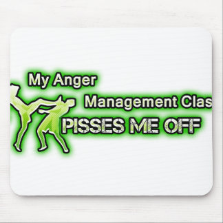 Funny Anger Management Mouse Pad