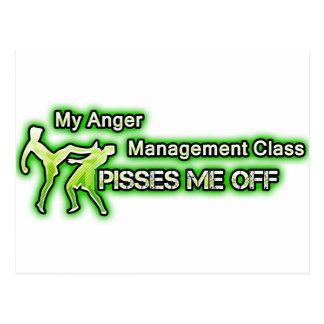 Funny Anger Management Postcard