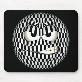 Funny Angered Emoticon Smiley Mousepads