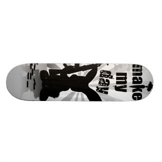 Funny angry armed rabbit skate decks