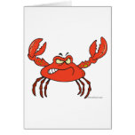 funny angry crabby red crab greeting card