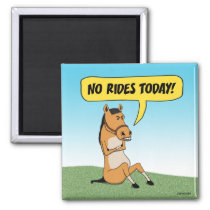 Funny Angry Horse Magnet