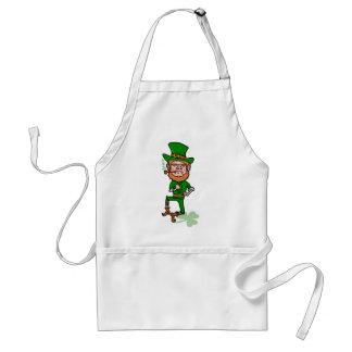 Funny Angry Lucky Irish Leprechaun Adult Apron