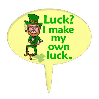 Funny Angry Lucky Irish Leprechaun Cake Topper