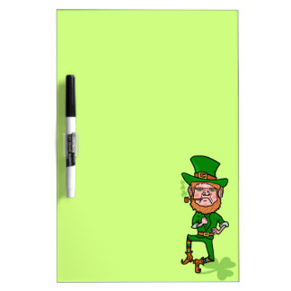 Funny Angry Lucky Irish Leprechaun Dry-Erase Board