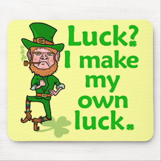 Funny Angry Lucky Irish Leprechaun Mouse Pad