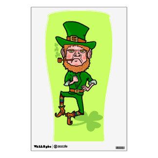 Funny Angry Lucky Irish Leprechaun Wall Decal