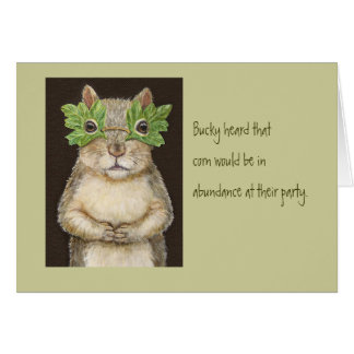 Funny animal/bird card