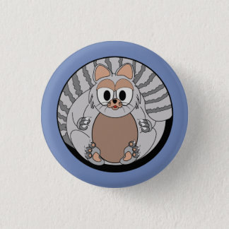 Funny animal, cat pinback button