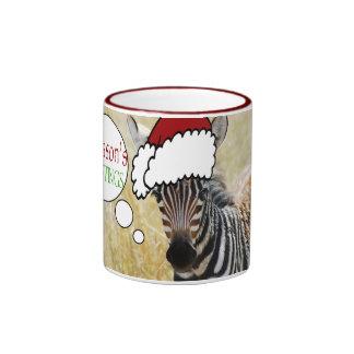 Funny animal Christmas greeting Mugs