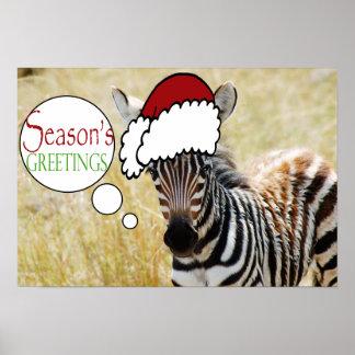 Funny animal christmas greeting posters
