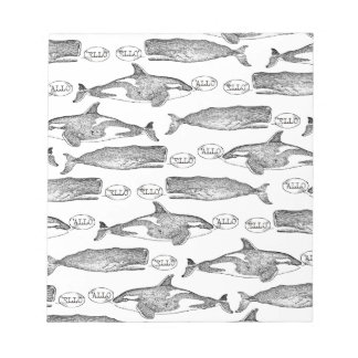 funny animal custom color killer whale sperm whale memo pads