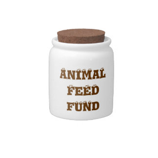 Funny Animal Feed Fund Spare Change Bank Candy Jar