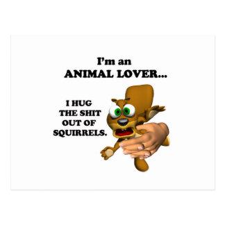 Funny Animal Lover  Postcard