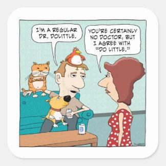 Funny Animal Magnetism Square Sticker