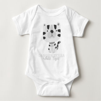 Funny Animal Meme Danger Zebra WHITE TIGER Baby Bodysuit