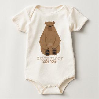 Funny Animal Meme Death Floof WILD BEAR Baby Bodysuit