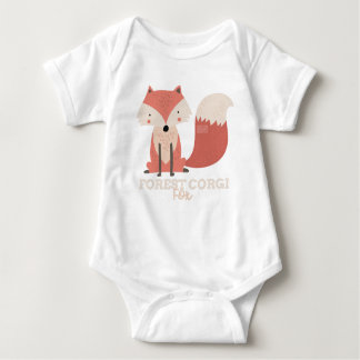 Funny Animal Meme Forest Corgi FOX Baby Bodysuit