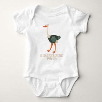 Funny Animal Meme Giraffe Bird OSTRICH Baby Bodysuit