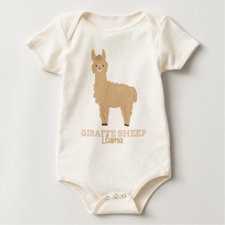 Funny Animal Meme Giraffe Sheep LLAMA Baby Bodysuit