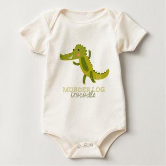 Funny Animal Meme Murder Log CROCODILE Baby Bodysuit