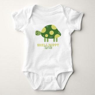 Funny Animal Meme Shell Puppy TURTLE Baby Bodysuit