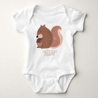 Funny Animal Meme Tree Rat SQUIRREL Baby Bodysuit