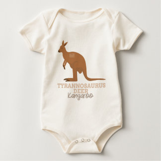 Funny Animal Meme Tyrannosaurus Deer KANGAROO Baby Bodysuit