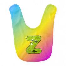 funny animal monogram - Z Bib