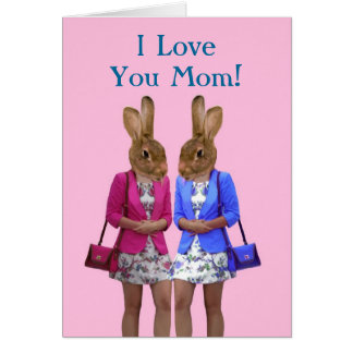 Funny animal  mothers day card