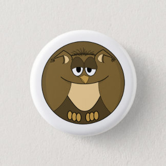 Funny animal, Owl Pinback Button