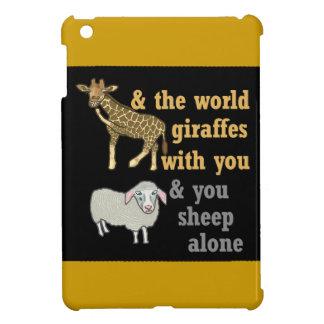 Funny Animal Pun, Giraffe and Sheep iPad Mini Case