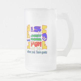 Funny Animal Saying  Goat Humor Frosted Glass Beer Mug